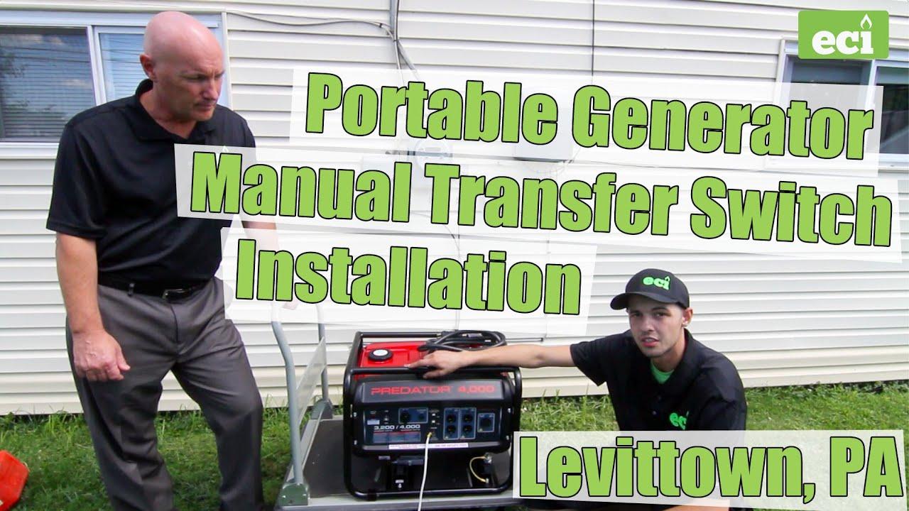 Portable Generator Manual Transfer Switch Installation In