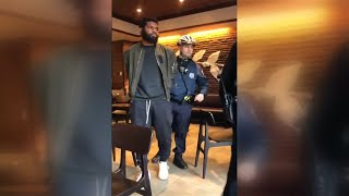 Social media video shows arrests of black men at Philadelphia Starbucks