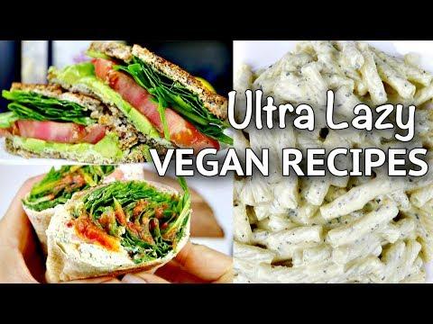 ULTRA LAZY VEGAN RECIPES #1 // EASY AF!!!