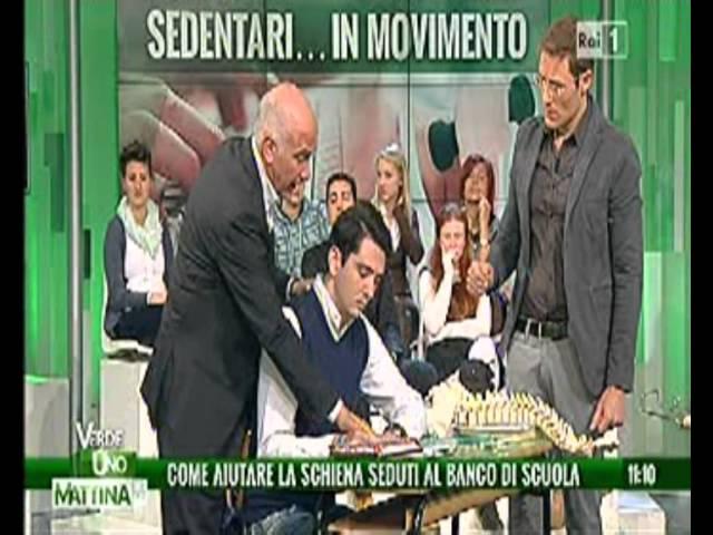 Scuola ufficio e postura - Stefano Pompili a Uno Mattina