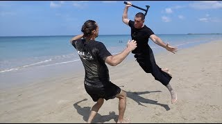 Amazing Martial Arts on a paradise beach in Thailand