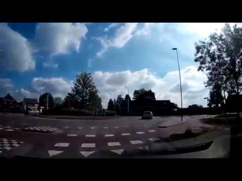 From Belgium to the Netherlands - Lommel, Bergeijk, Valkenswaard - Dashcam Travel Video