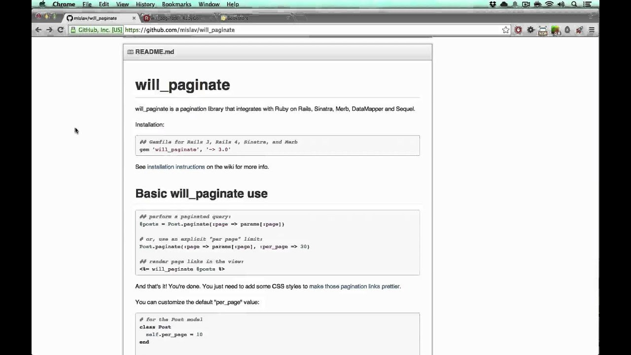Pagination with will_paginate (Example) | GoRails