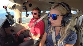 SHE FLEW ME in a BRAND NEW CESSNA 182!