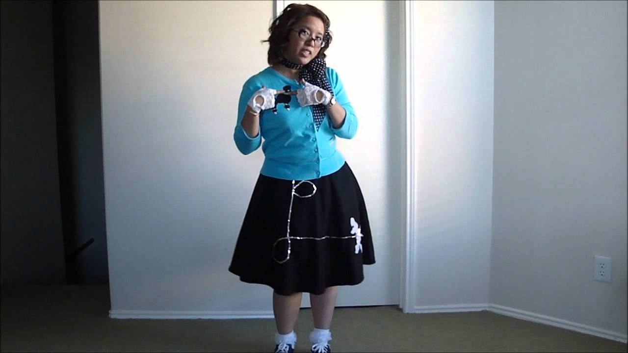 My Halloween Costume 1950s Sock Hop Poodle Skirt Girl Youtube