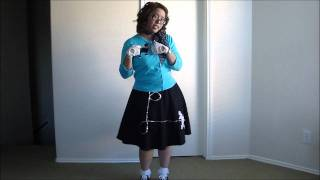 My Halloween Costume-  1950s Sock Hop- Poodle Skirt Girl