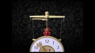 Brian Law's Woodenclocks-clock 17 Flying Pendulum