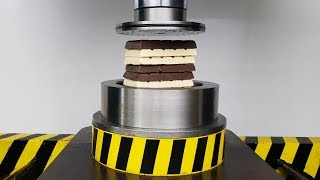 Pressing Chocolate Through Small Holes with HYDRAULIC PRESS 100 TON