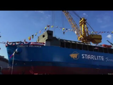 Starlite's 2nd brand new Ro-Ro vessel launched