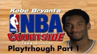 Kobe Bryant in NBA Courtside (N64) | LA Lakers vs NY Knicks pt.1