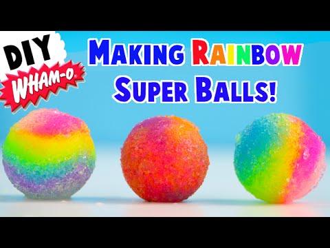 DIY Making Rainbow Super Bouncy Balls - Wham-O Super Ball Factory Maker