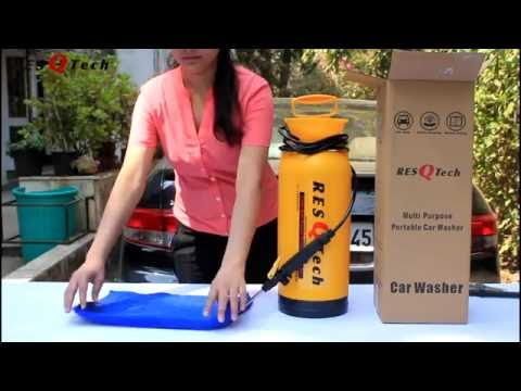 ResQTech Portable Car Washer : Detail Review & Live Demo   (Part 2) Your All Queries are solved from YouTube · Duration:  12 minutes 7 seconds