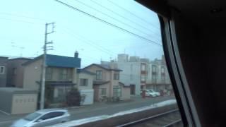 2016年3月18日,16時12分に札幌を発車した寝台特急カシオペア.北海道車...