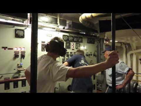 USS Slater 8 Cyl Generator trial