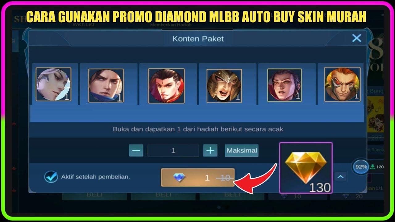 Cara Gunakan Promo Diamond Mobile Legends Hasil Dari Event Mille Crepe Mobile Legends Spin
