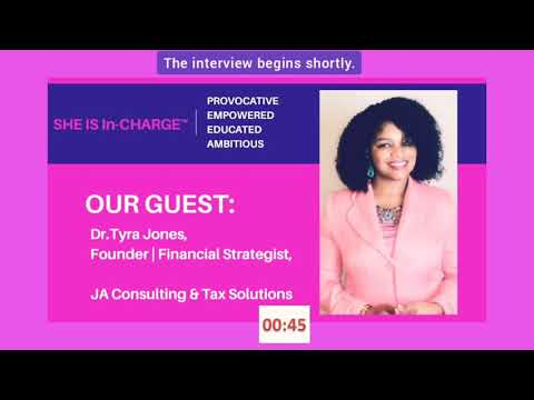 Dr. Tyra Jones' interview with Meridith Ward of SHE IS In-Charge Podcast