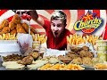 THE SUPERCHARGED CHURCH'S CHICKEN MENU CHALLENGE! (12,000+ CALORIES)