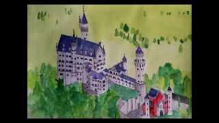 drawing neuschwanstein castle