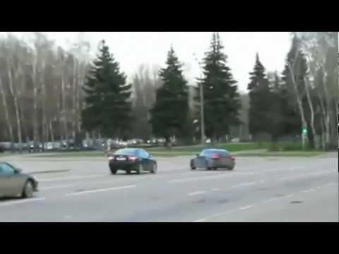 "Lexus IS-F ""drift in traffic"" (в пробке)"