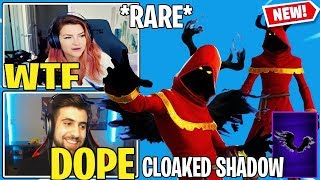 Streamers React To *NEW* Fortnite CLOAKED SHADOW Skin!! (Legendary)