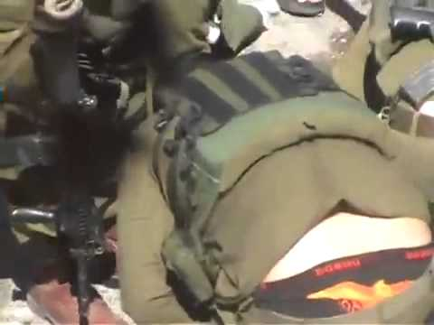 Israeli Army are trying to save a Palestinian