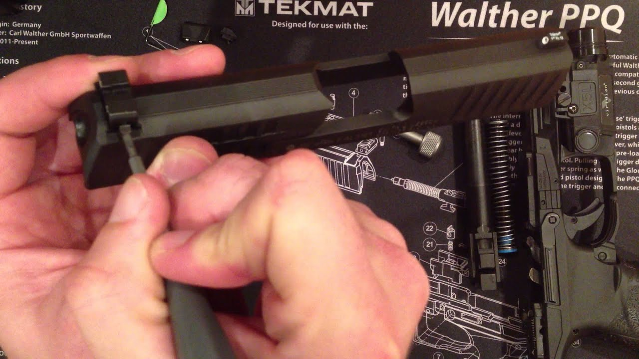 HOW TO INSTALL TRIJICON NIGHT SIGHTS TO WALTHER PPQ / P99 (WP01O)