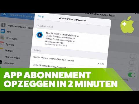 app abonnement opzeggen ipad en iphone