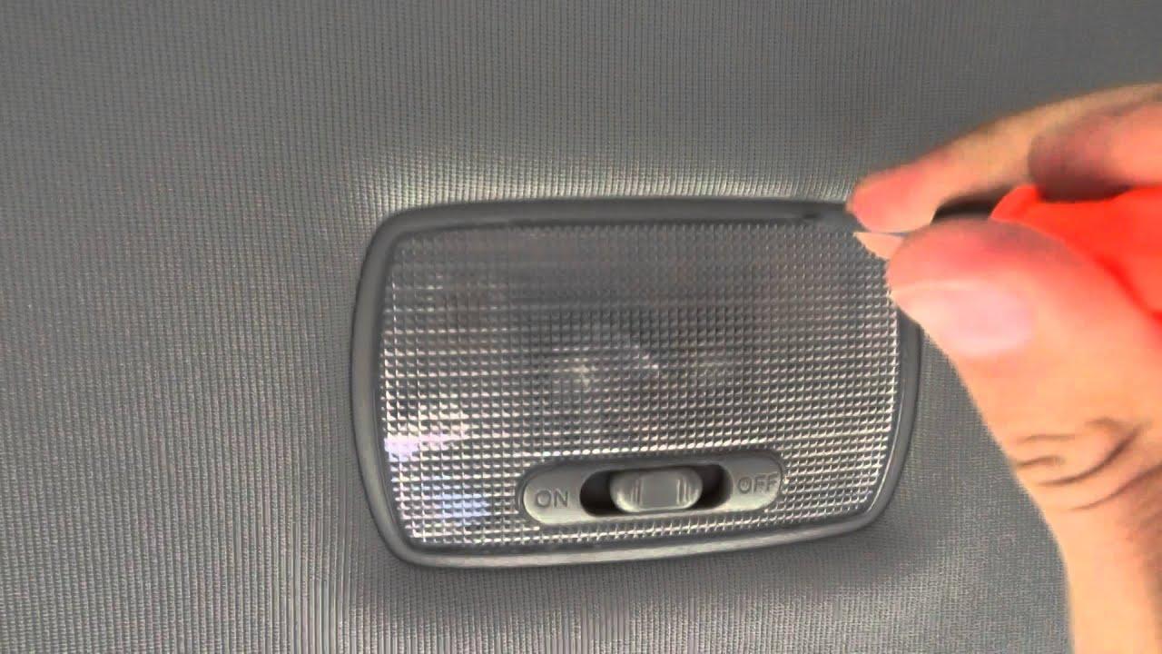как снять плафон освещения салона на киа рио видео