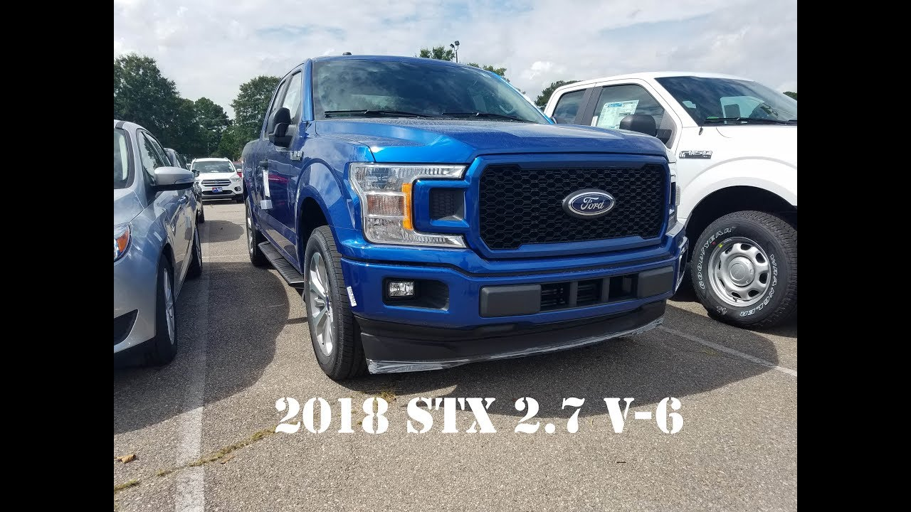 2018 ford f 150 lighting blue stx 2 7 v 6 4x2 youtube. Black Bedroom Furniture Sets. Home Design Ideas
