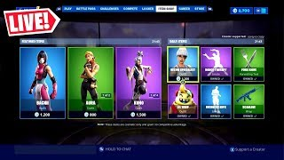 🔴 *NEW* ITEM SHOP RESET AUGUST 12TH NEW SKINS TONIGHT (FORTNITE LIVE)