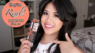 "BENEFIT's ""They're Real Push-Up Liner""- Gel Pen Review & Demo Thumbnail"