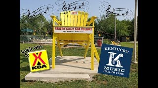 Renfro Valley Kentucky KΟA campground near the Kentucky Music Hall of Fame off Interstate 75