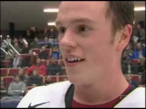 jonathan toews swears in post game interview conn smythe stanley cup gold medal