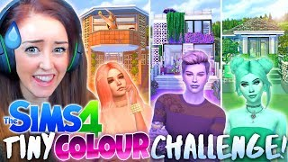 💜🧡💚 3 x TINY HOME SOLID COLOUR CHALLENGE!💜🧡💚 Pastel edition! (Sims 4 Build)