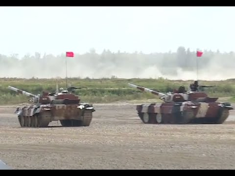 Tank Biathlon World Championship semi-finals near Moscow