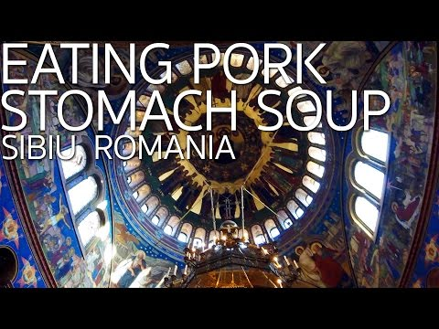 Eating Cow Stomach Soup | Sibiu Romania E029
