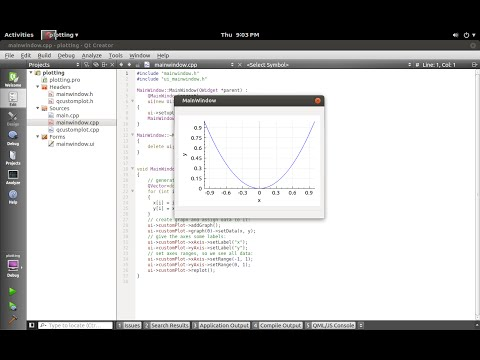 Plotting in Qt using QCustomPlot - YouTube