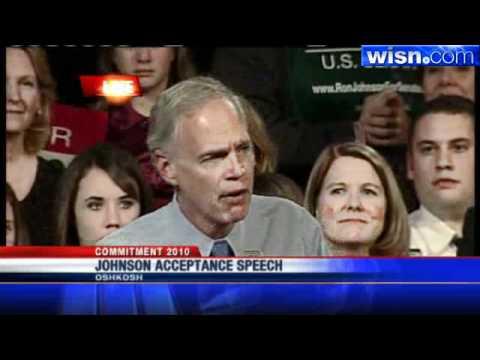 Political Newcomer Ron Johnson Makes Acceptance Speech