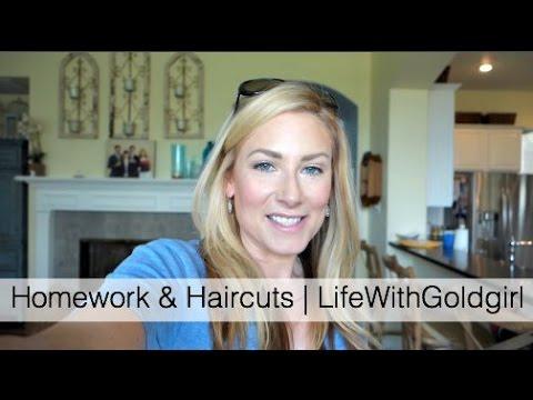 Homework & Haircuts   LifeWithGoldgirl