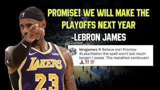 LeBron James NANGAKO Na Makakapasok Ang Lakers Next Season