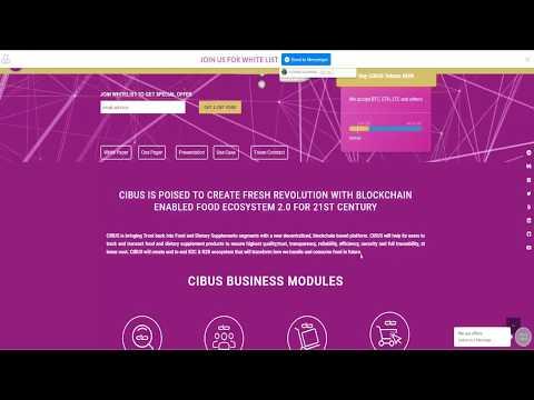 Cibus ICO - Food Ecosystem on Blockchain