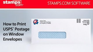 Stamps.com - How to Print USPS Postage on Window Envelopes