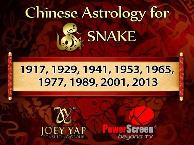 JOEY YAP Astrology SNAKE
