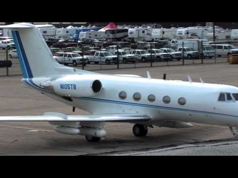 Gulfstream Private Jet with Mounted Weapons and Missile Pylons