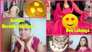 మీ సలహా కారణంగా నేను మొదటిసారి ప్రయత్నించాను|Quick Summer Morning Skin Care Routine||Chocolate Dosa|
