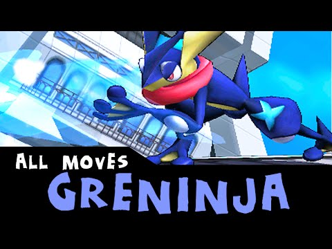 Greninja All Custom Moves Super Smash Bros 3ds Youtube