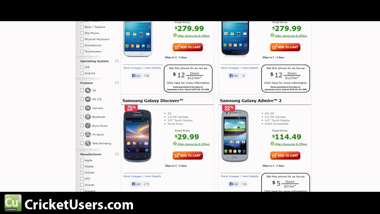 Half Of Smartphones Cricket Wireless Black Friday Cyber Monday 2013 Youtube