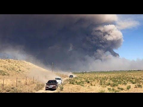 Взрыв складов в Казахстане