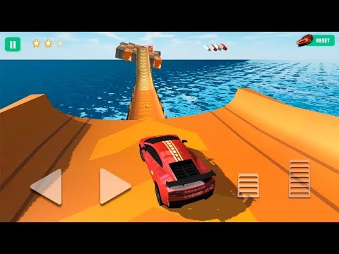 Car Stunts 3D #5 -Red Car | Impossible Stunt Car Tracks 3D | Gameplay Android Game - Car Racing Game