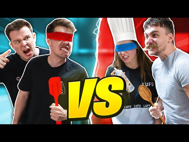 BLINDFOLDED COOKING CHALLENGE w/ CLICK